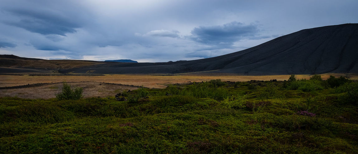 play of forces Green Hiking Iceland Landscape_Collection Myvatn Nature Photography Beauty In Nature Cloud - Sky Clouds Clouds And Sky Day Grass Hverfjall Landscape Mountain Nature Nature_collection No People Outdoors Scenics Sky Volcano