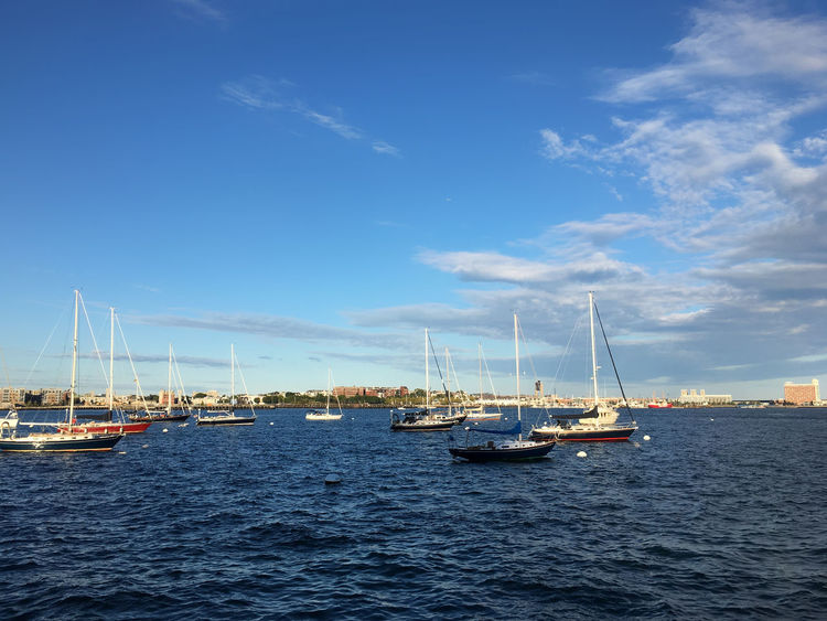 Boston Old Harbour Astrology Sign Blue Boston Clear Sky Day Harbor Mast Mode Of Transport Moored Nature Nautical Vessel No People Old Harbour Outdoors Sailboat Sailing Sailing Ship Sea Sky Transportation Travel Travel Destinations Vertical Water