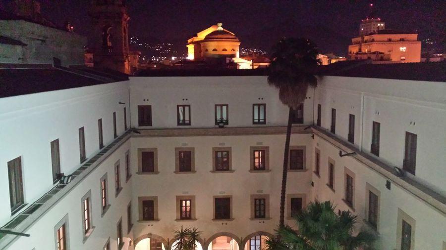 Palermo vista notturna dal Museo Archeologico Regionale Antonio Salinas Illuminated Sky Night