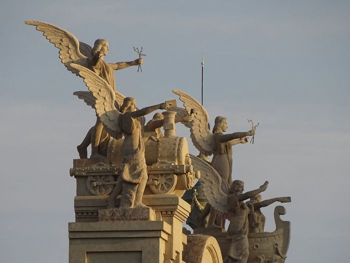 Statue Travel Destinations Travel Outdoors Day Edificio De Correos Sculpture No People Popular València Taking Photos Popular Photos SPAIN Esculpture Art And Craft