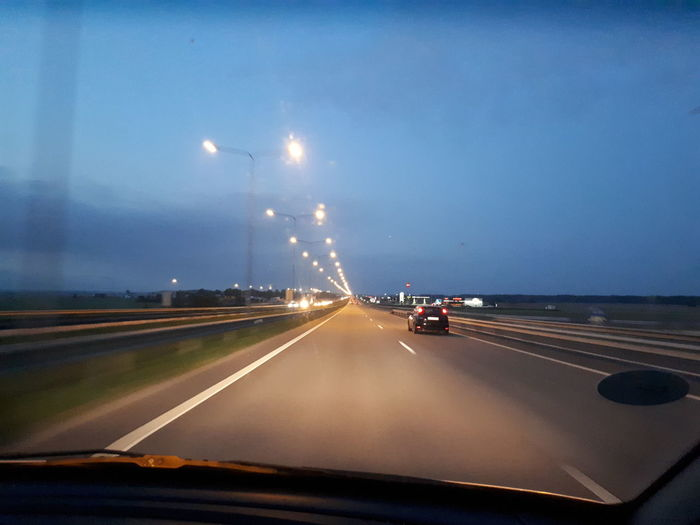 Road Car Speed Sky Headlight Vintage Car Car Point Of View Windshield Vehicle Light Lightning Car Interior Storm Cloud