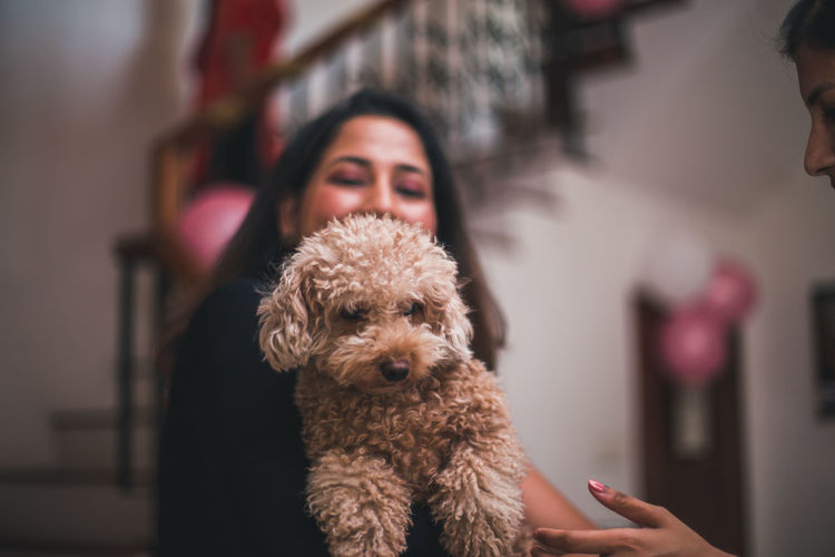 Tamanna Haque (II) Domestic Pets Domestic Animals Canine Dog Real People One Animal One Person Mammal Indoors  Lifestyles Focus On Foreground Vertebrate Women Home Interior Portrait Adult Pet Owner Care The Portraitist - 2019 EyeEm Awards