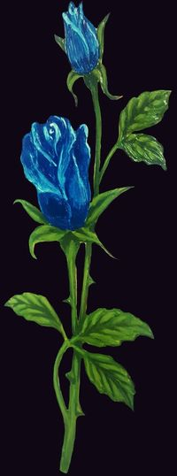 Roses are blue