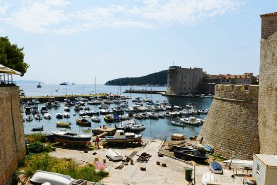 Beach Sea Water Outdoors Sky Sand No People Day Nautical Vessel Vacations Harbor Architecture City Summer High Angle View Dubrovnik Dubrovnik, Croatia Croatia ♡ Travel Destinations Vacations