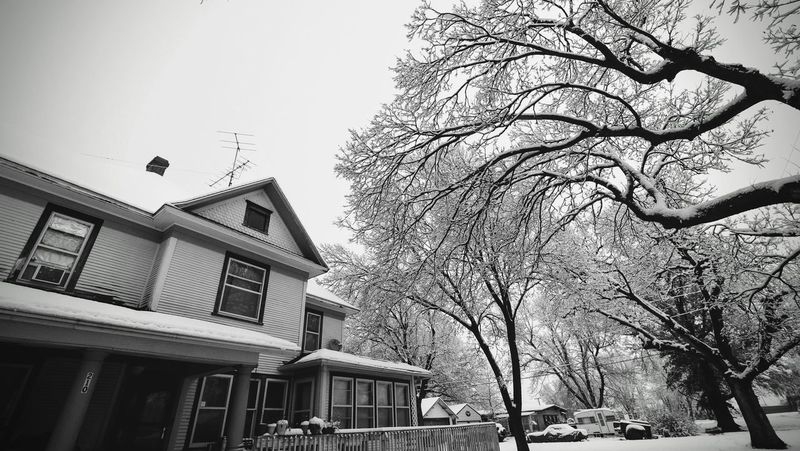 Visual Journal December 4, 2016 Western, Nebraska (Fujifilm Xt1,Fuji 10-24/f4 OIS) edited with Google Photos. America B&W Collection B&w Photography Building Exterior Camera Work Eye For Photography EyeEm Best Shots Home Sweet Home Low Angle View MidWest My House My Neighborhood Photo Diary Rural America Season  Seasons Selects Small Town America Small Town Stories Storytelling Taking Photos Visual Journal Winter Wintertime Winterwonderland
