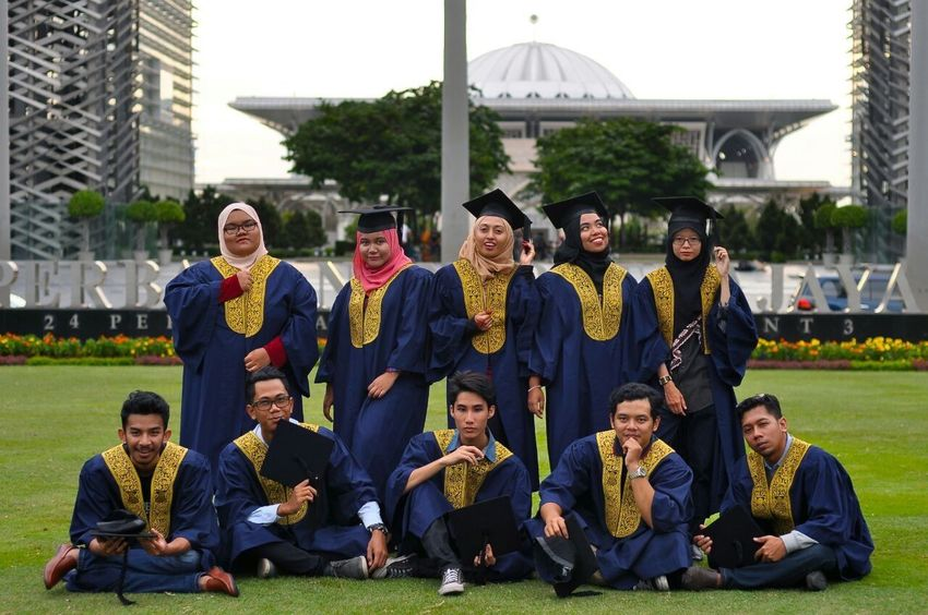 congrats✨ Looking At Camera Mature Adult Portrait Outdoors Smiling Togetherness Happiness Sitting Mature Men Full Length Building Exterior Adult People Young Adult Sport Architecture Large Group Of People Day Adults Only Uitmdihatiku Putrajaya