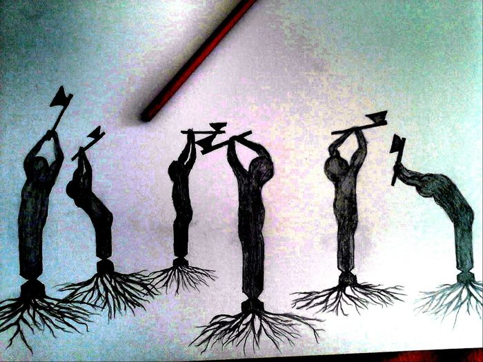 Drawing ✏ ForTheloveOfnatyre Plant Life Not Cut Trees