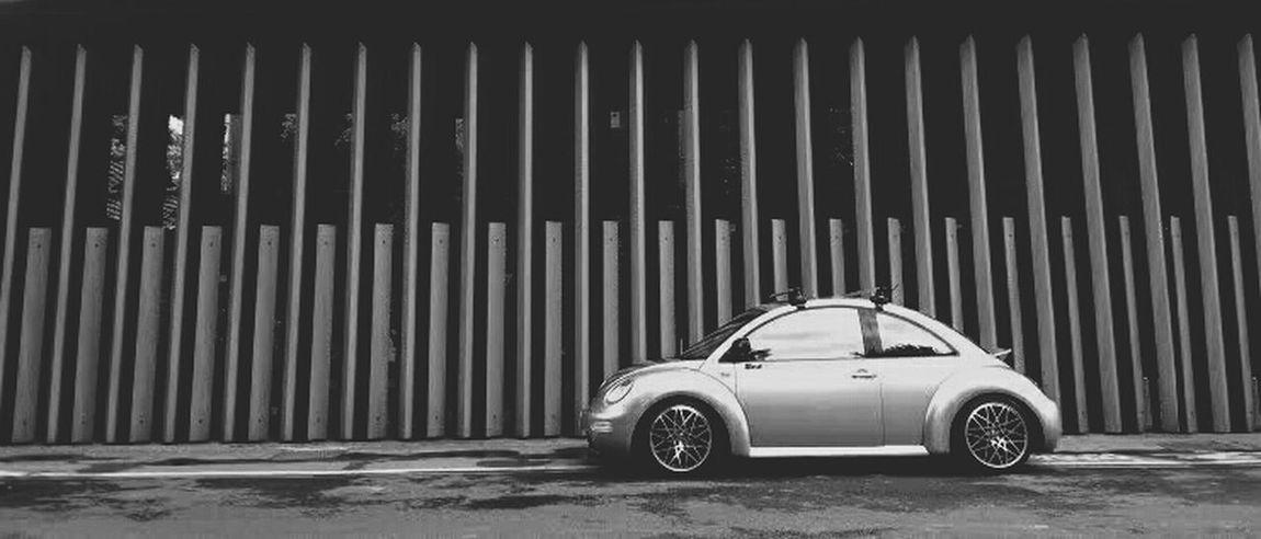 Hello World Color Portrait Monochrome VW Beetle