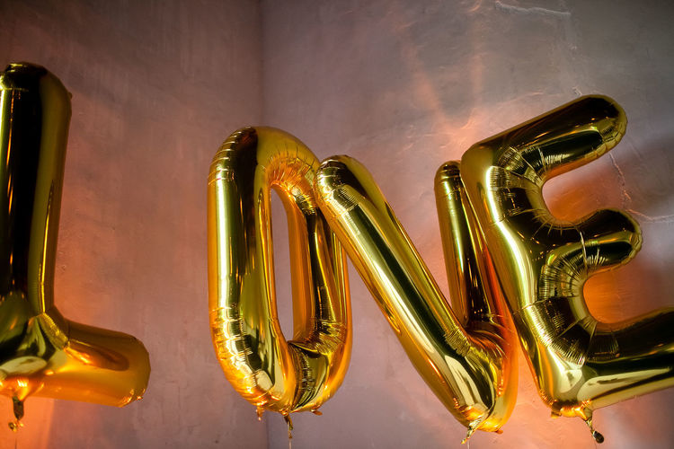 Close-up of text balloons