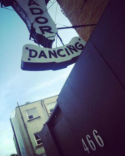 #danceha #dancinddaysarehere #dancingsig #lowangle #matadortoronto Building Exterior Outdoors Sky Text