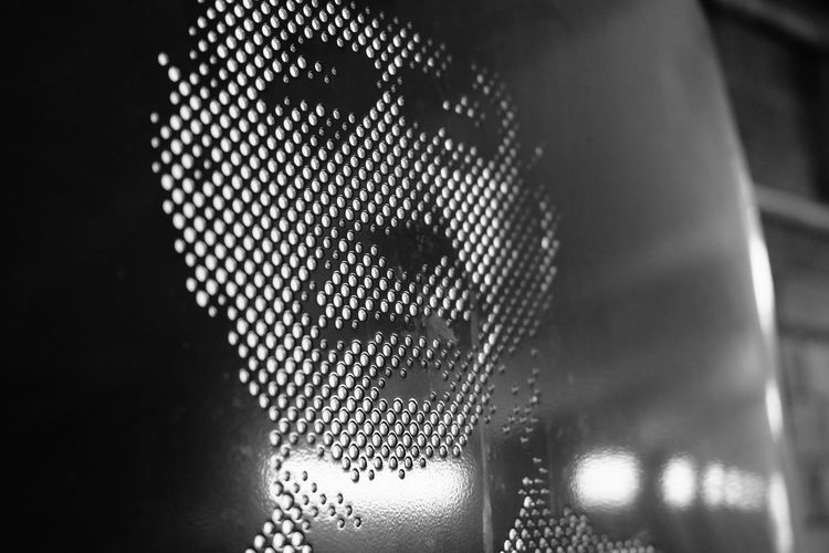Black And White Illuminated GWR Railway Worker Technology Pixelated