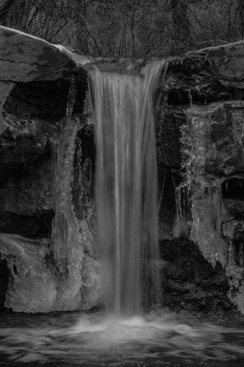 Forming Ice in Natures Freezer Waterfall Motion Water Long Exposure Flowing Water Blurred Motion Scenics - Nature Beauty In Nature Solid No People Rock Waterfront Nature Flowing Rock - Object Rock Formation Day Non-urban Scene Outdoors Falling Water Power In Nature Purity