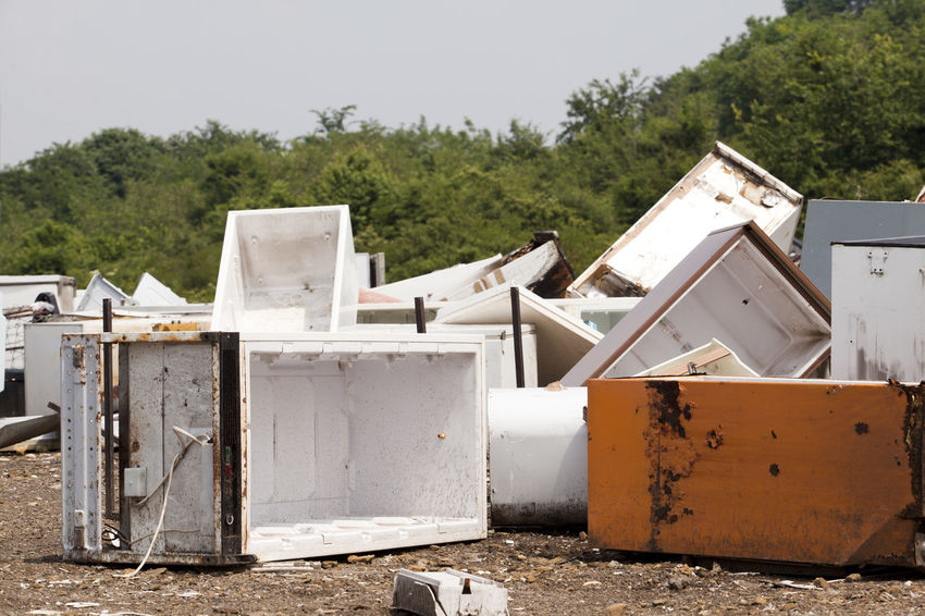 Old home appliances dumped at the landfill Contamination Disposal Fridge Garbage Dump Nature Abandoned Consumerism Consumption  Dump Environment Freezer Fridges Garbage Home Appliances Household Appliances Junkyard Landfill Old Outdoors Pollution Recycle Recycling Recycling Center Waste Waste Management
