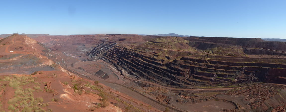 Arid Climate Canyon Clear Sky Desert Digging Up The Earth Fossil Geology Iron - Metal Iron Ore Mine Iron Ore Pit Landscape Mineralogy Minerals Mineralscience Minning Minning Industry Nature Open Cut Mine Physical Geography Red Earth Rusty Coloured Earth Scenics Sky