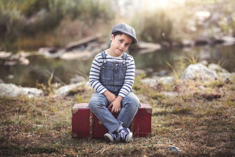 Field Freedom Happiness Holidays Innocence Love Nature Thinking Travel Traveling Child Childhood Elementary Age Grass Outdoors Portrait Sadness Sitting Smiling Spring Thoughtful Traveler