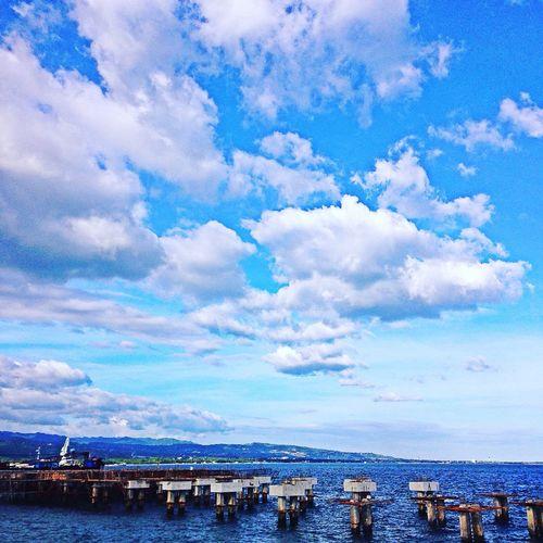 Seaside Sky And Clouds Bluesky Sea And Sky