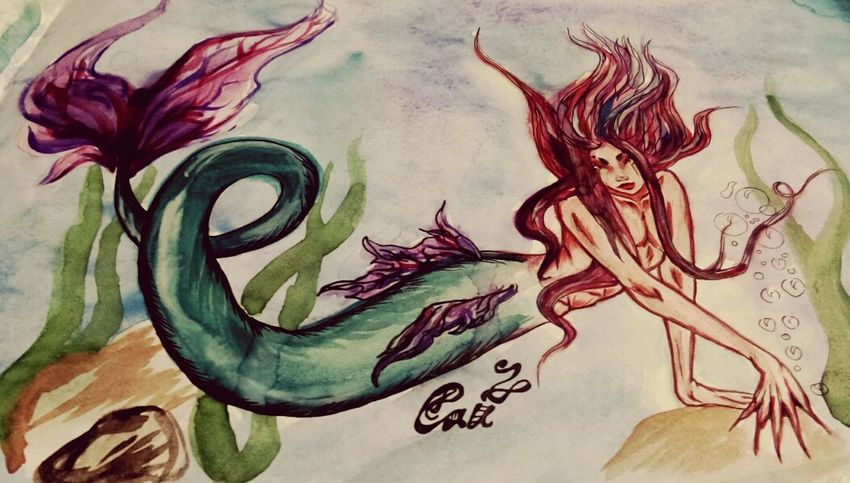 Русалочка по имени Сай ^_^ Art My Art Original Original_character Fantasy Mermaid