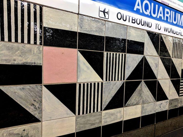 OutBound Train Station Boston Metro