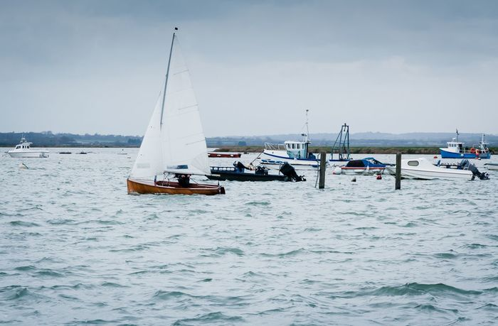 Nautical Vessel Sea England Blue Boating Boat Colchester Essex West Mersea Hobby Sailing Leisure Activity Pasttime Tranquility Outdoors Water Transportation Vacations Sailboat Buoy Tranquil Scene Let's Go. Together. Breathing Space Be. Ready.