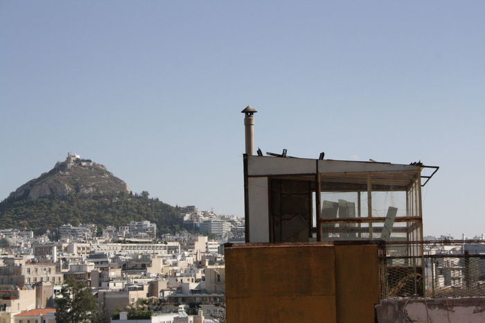 Acropolis Acropolis, Athens Architecture Atene Athens Blue Building Exterior Built Structure City City Life Clear Sky Day Exterior High Section Mountain Nature No People Outdoors Residential Building Residential District Residential Structure Sky Town