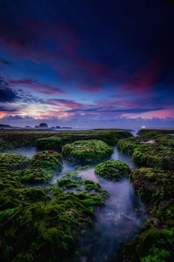 Beautiful sunrise at ranca buaya beach Garut Beach Water Space Waterfall Astronomy Beauty Sunset Planet Earth Awe Summer Long Exposure Geyser Rushing Power In Nature Erupting Forked Lightning Volcanic Activity Steam Rapid Rainbow Extreme Weather Stream