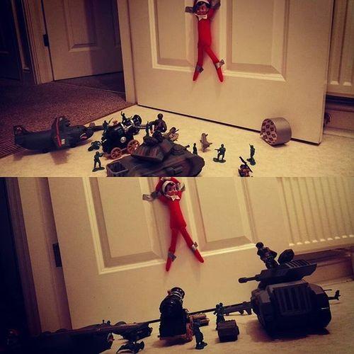 Had to get the boys in to control the elf.. Naughtyelf Elfonashelf @mrsh1980