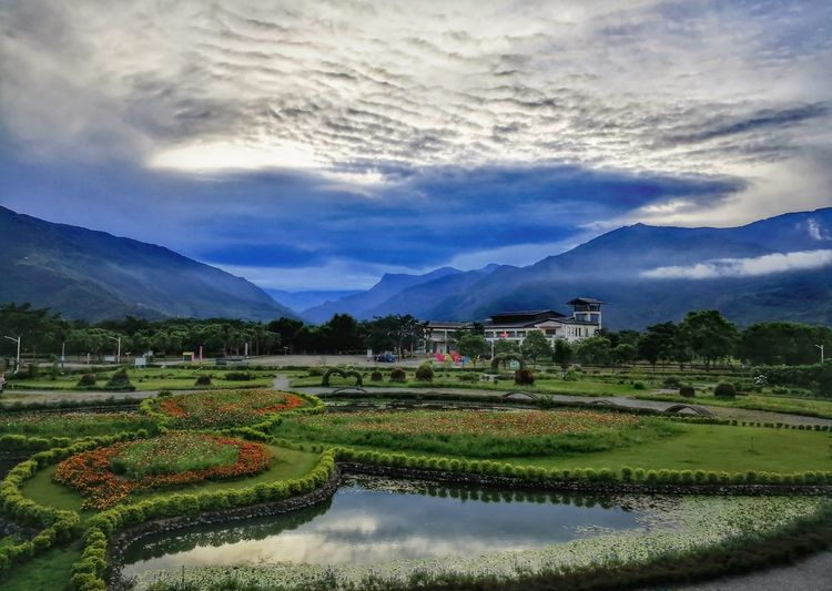 Mountain Agriculture Scenics Farm Rice Paddy Cloud - Sky Landscape Rural Scene Mountain Range Field Beauty In Nature Nature Water Reflection Rice - Cereal Plant Tree No People Terraced Field Flower Outdoors