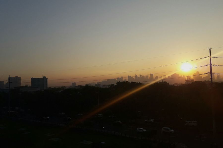 Good morning city City Outdoors City Street Cityscape Sunrise