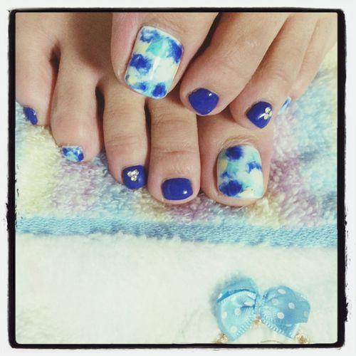 my samuraiblue nail Self Nail Footnail SAMURAI BLUE Nail