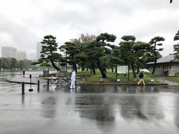 Built Structure Outdoors Rainy Season