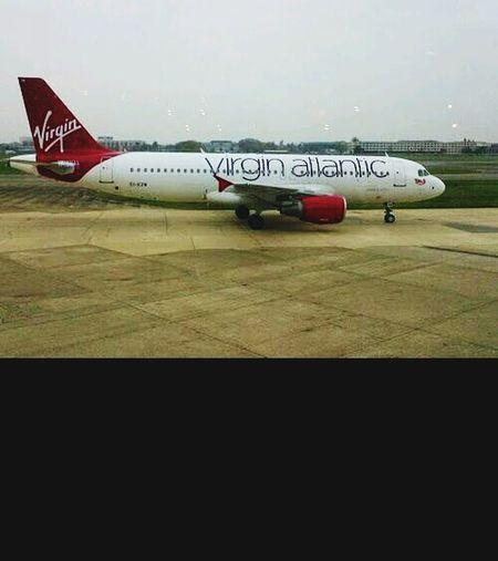 From An Airplane Window Virgin Atlantic London Taking Photos