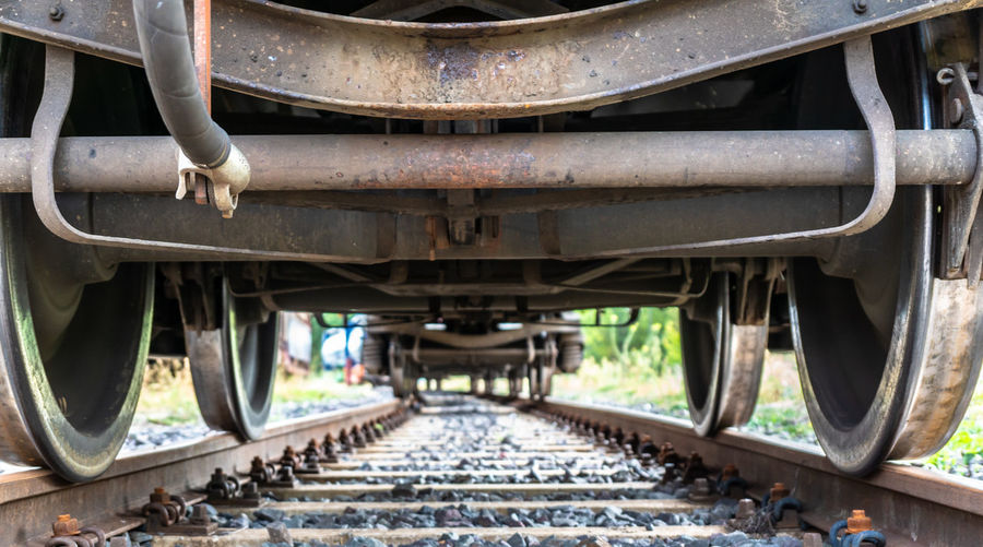 Surface Level Of Train On Tracks