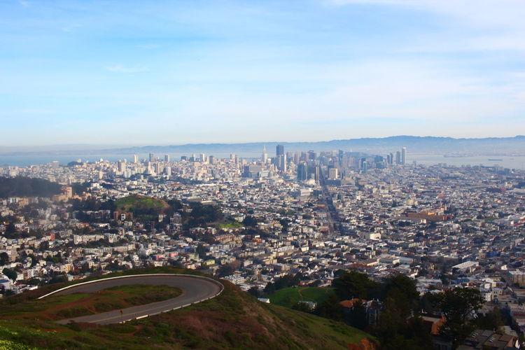 EyeEm City EyeEm City Lover EyeEm City Shots Frisco San Francisco San Francisco Bay Skyline Twin Peaks Viewpoint View View From Above
