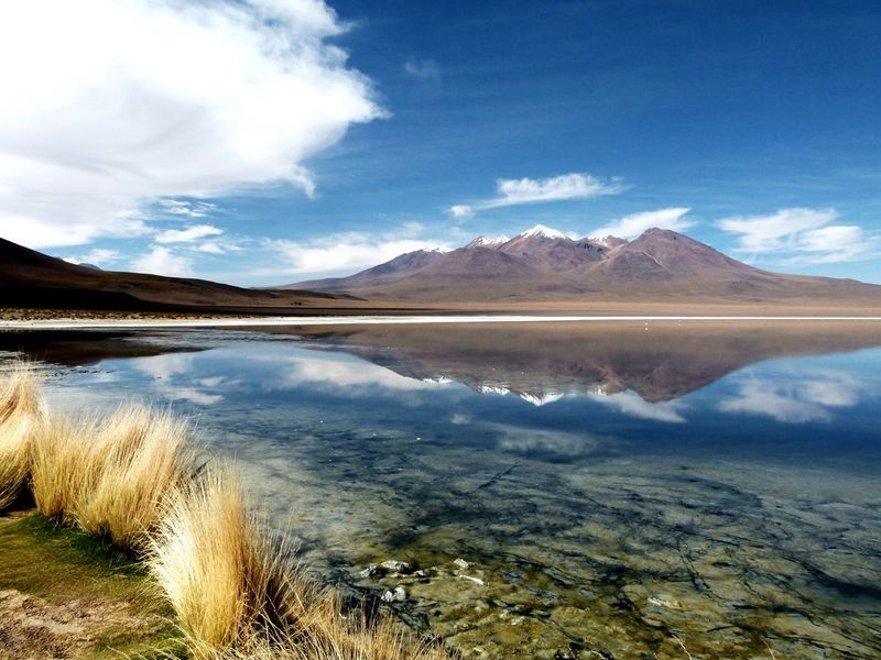 Edge Of The World 2015  Bolivia Sud Lipez Cold Lake Laguna Mountain Nature Volcano Calm