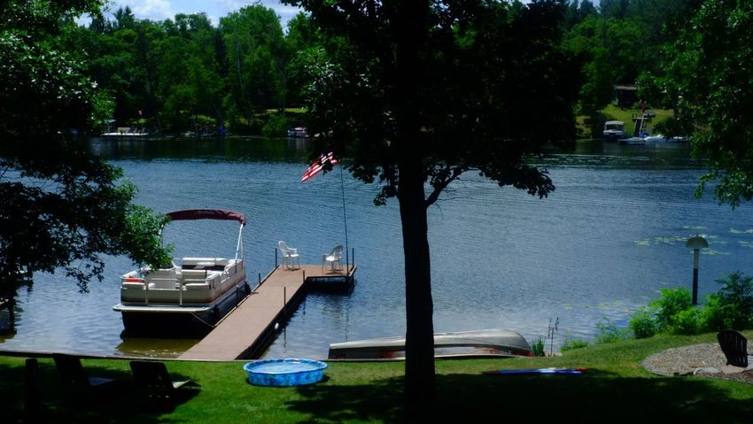 Lake Country Minnesota Architecture Beauty In Nature Day Growth Moored Nature Nautical Vessel No People Outdoors Pequot Lakes River Scenics Transportation Tree Water