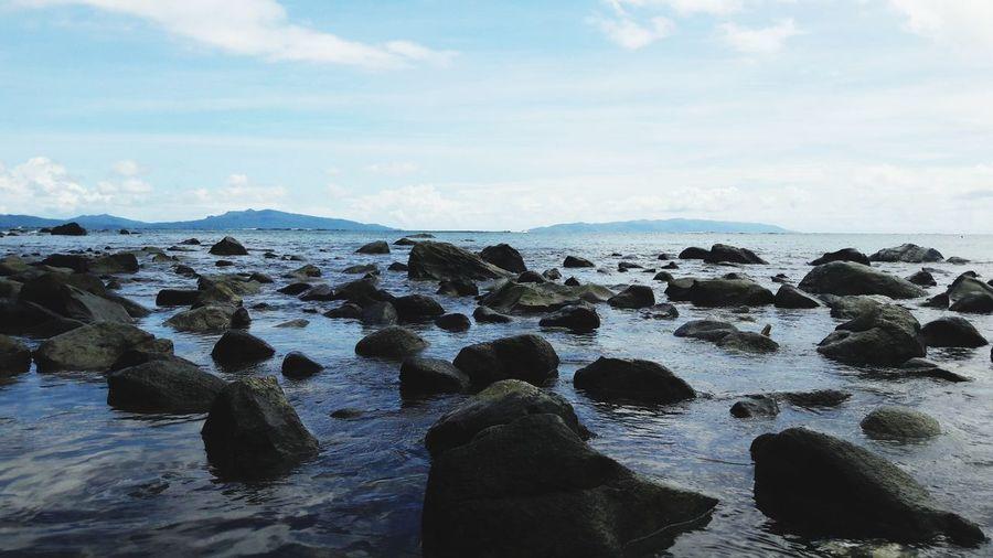 Sea Beach Water Rock - Object Sand Sky Horizon Over Water Close-up Cloud - Sky