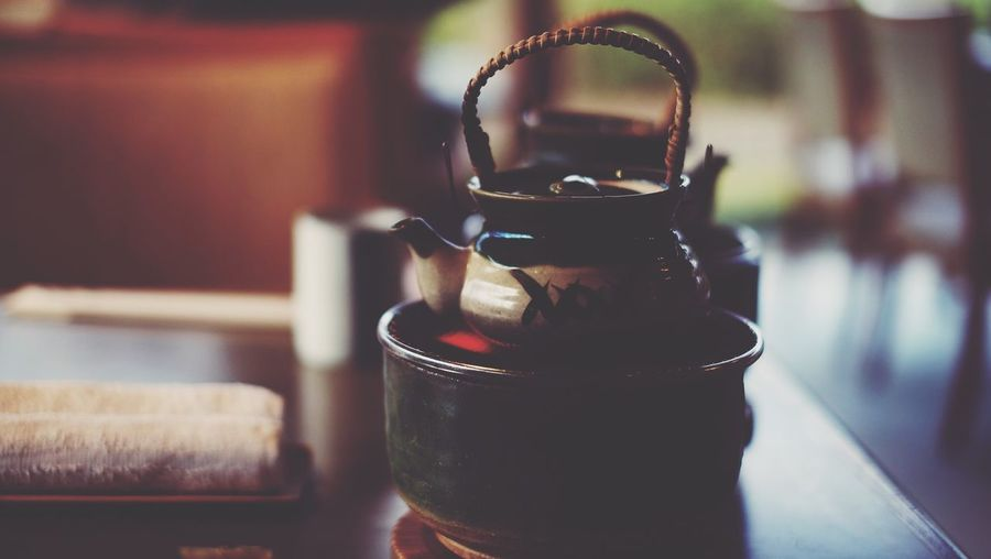 The green tea Tea Japanese  Indoors  Focus On Foreground Table Food And Drink No People Close-up Drink Day Food Freshness