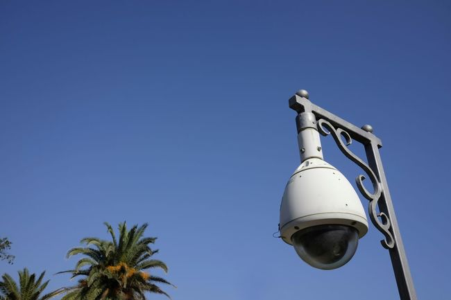 Modern Control Outdoors Round Surveillance Surveillance Camera Suspicious System Technology Video White