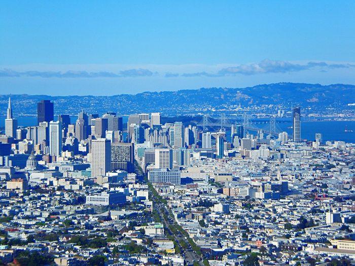 Cityscapes San Francisco TransAmericaBuilding Transamerica Pyramid Bay Bridge San Francisco Bay Bridge Bay Area California Dreamin