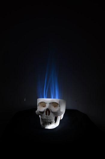 Skull Skull Art Flame Blue Flame LightpaintingphotographyBlue Flames Calavera  Lightpainting Jugando Con La Luz Lightpaintingseries