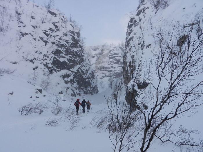 Cross Country Skiing Mountain Passing Saltoluokta Ravin Ravin Snow Winter