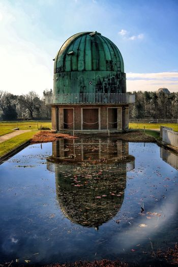 The Observatory Science Centre Reflecting In Artificial Pond