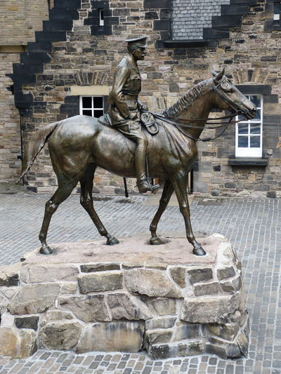 Statue of horse in building