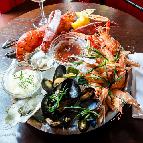 Lobster Meal Crustacean Food Food And Drink Foodphotography Freshness Garnish Gourmet Healthy Eating Indoors  Luxury Mussels No People Organic Oyster  Raw Food Ready-to-eat Seafood Shrimp - Seafood Still Life Table Tabletop Wellbeing Yummy