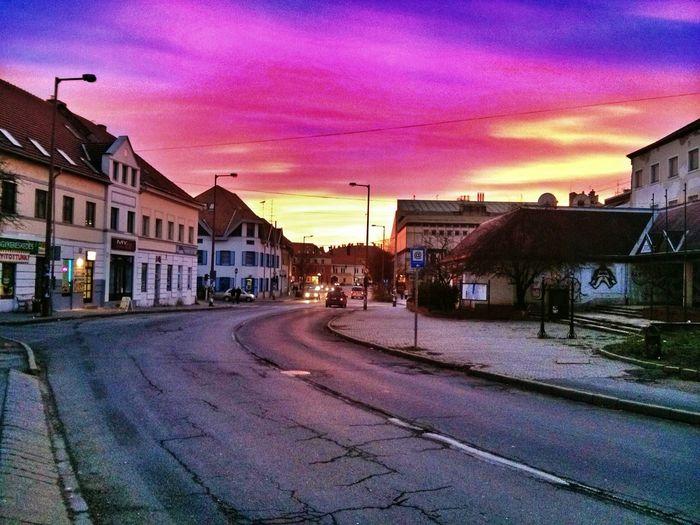 Sky Colors Esztergom Road Clouds
