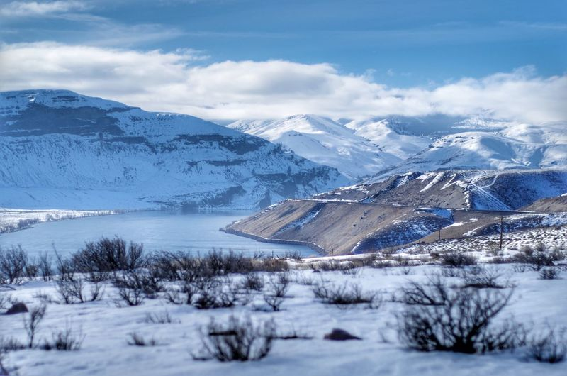 A look out Landscape Snow Cold Temperature Mountain Nature Winter Beauty In Nature No People Mountain Range Day Outdoors Sky EyeEmNewHere