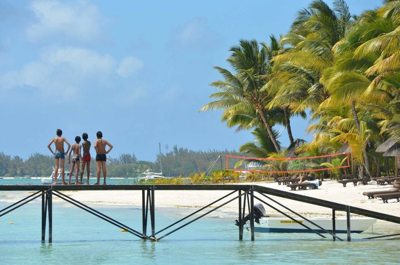 Beautiful Trou aux Biches Resort and Spa in beautiful Mauritius! 👌😍 Beauty In Nature Vacations Beach Beach Life Life Is A Beach Mauritius Africa Palm Tree Friendship Togetherness Vacations Sky Water Young Adult Trou Aux Biches Outdoors Nature Ocean