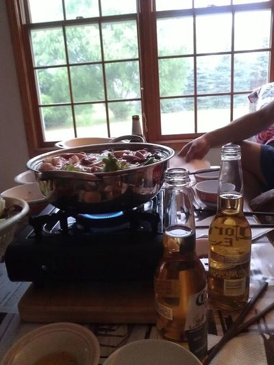 Hot Pot And Booze With The Folks