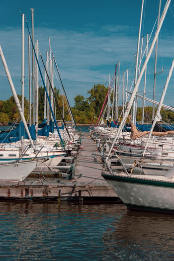 Pointe-Claire Tourist Attraction  Canada Coast To Coast Cloud - Sky Day Harbor Luxury Marina Mast Mode Of Transportation Moored Nature Nautical Vessel No People Outdoors Pole Reflection Sailboat Sea Sky Sony A68 Transportation Travel Travel Destinations Water Waterfront Yacht