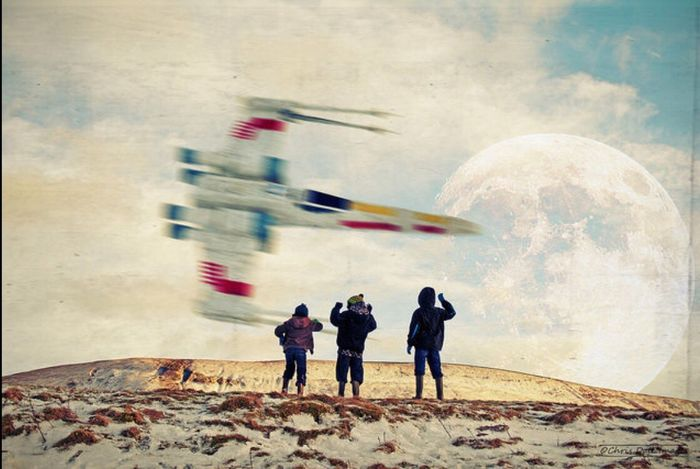 Flyby. Just another quiet day in the hills Blurred Motion Speed Motion Working People Childhood Teamwork Smoke - Physical Structure Outdoors Day Togetherness Starwars Xwingfighter Xwing